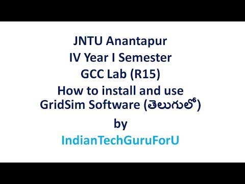 JNTU ANANTAPUR GCC LAB HOW TO INSTALL AND USE GRIDSIM SOFTWARE