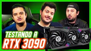 RTX 3090 MSI GAMING X TRIO! Testando AO VIVO feat. Loop Infinito