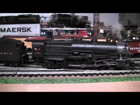 MTH Premier PRR K4s O-Gauge Steam Locomotives Triple-Headed in True HD 1080p
