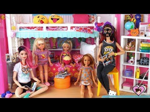 NEW Barbie Dreamhouse Adventures Sleepover Night Routine
