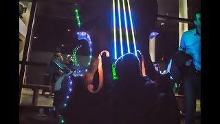 Giant LED Violin (Piccolo Violino by Seth Byrnes, Dusty Visions & CymaSpace)