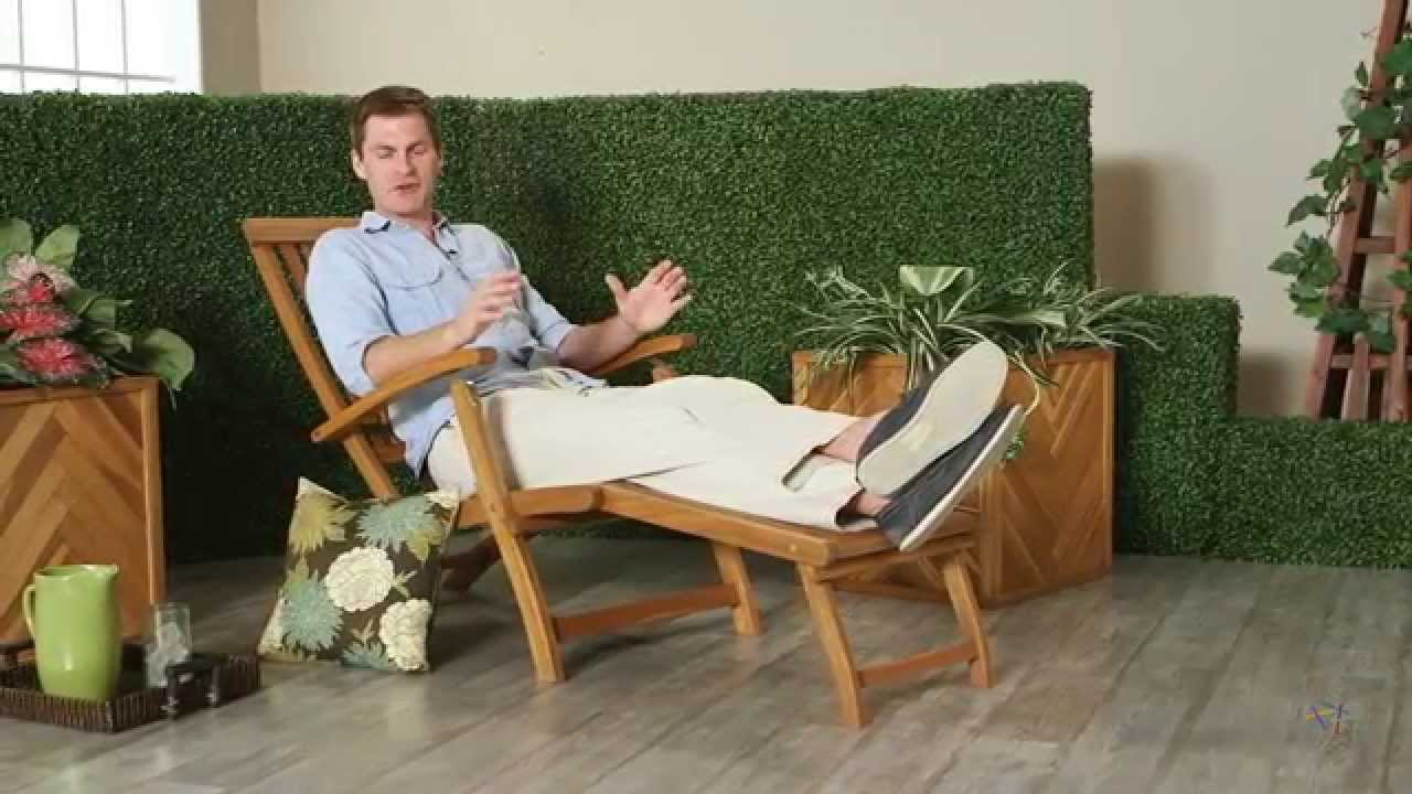Ordinaire Coral Coast Dorado Acacia Steamer Deck Lounge Chair   Product Review Video    YouTube