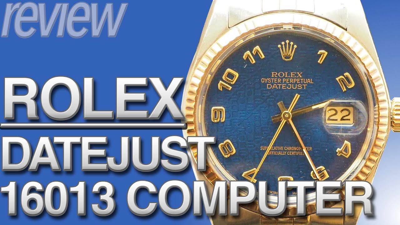 ロレックス デイトジャスト YGコンビ ブルーコンピュータ!ROLEX DATEJUST Ref.16013 実機レビュー!