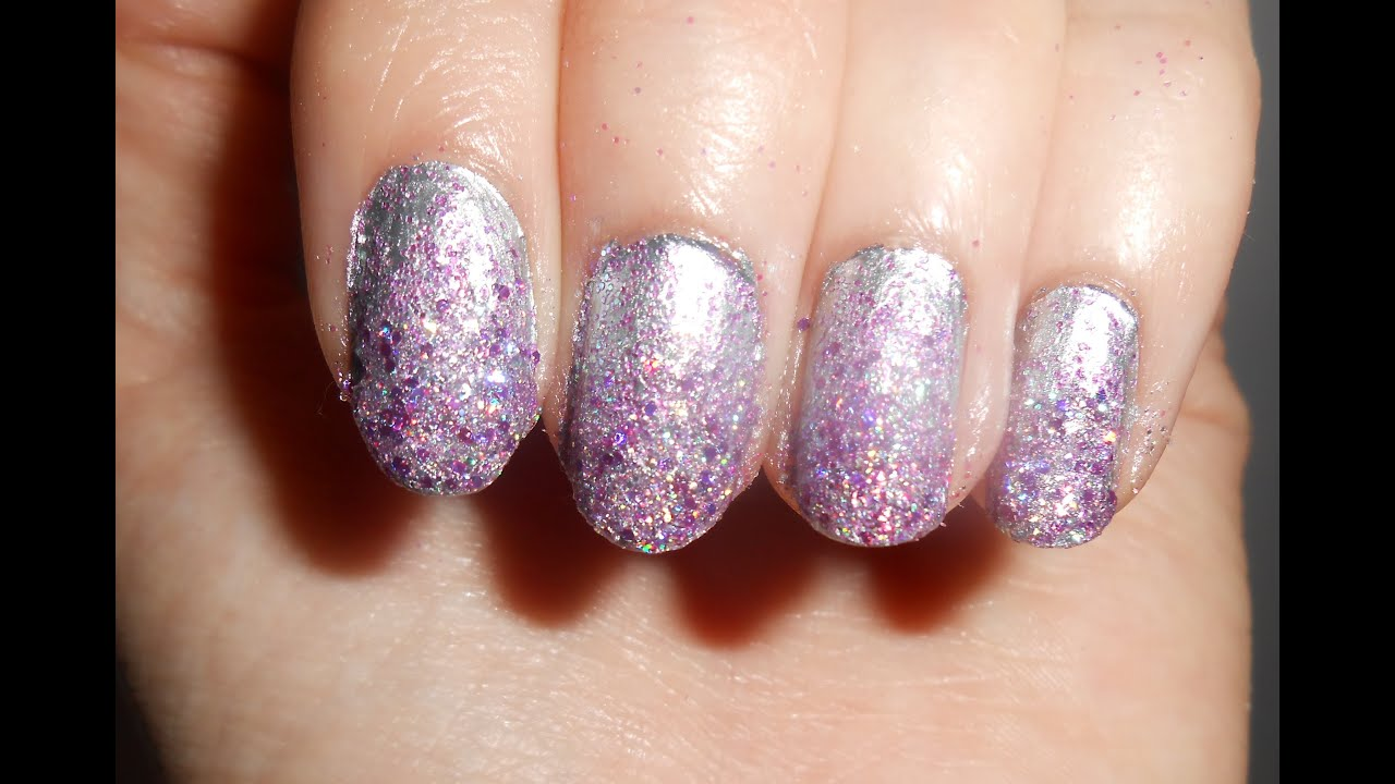 Lilac Glitter Prom Weekend Nails