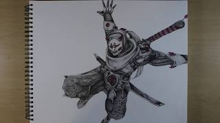 Drawing Genji - Overwatch