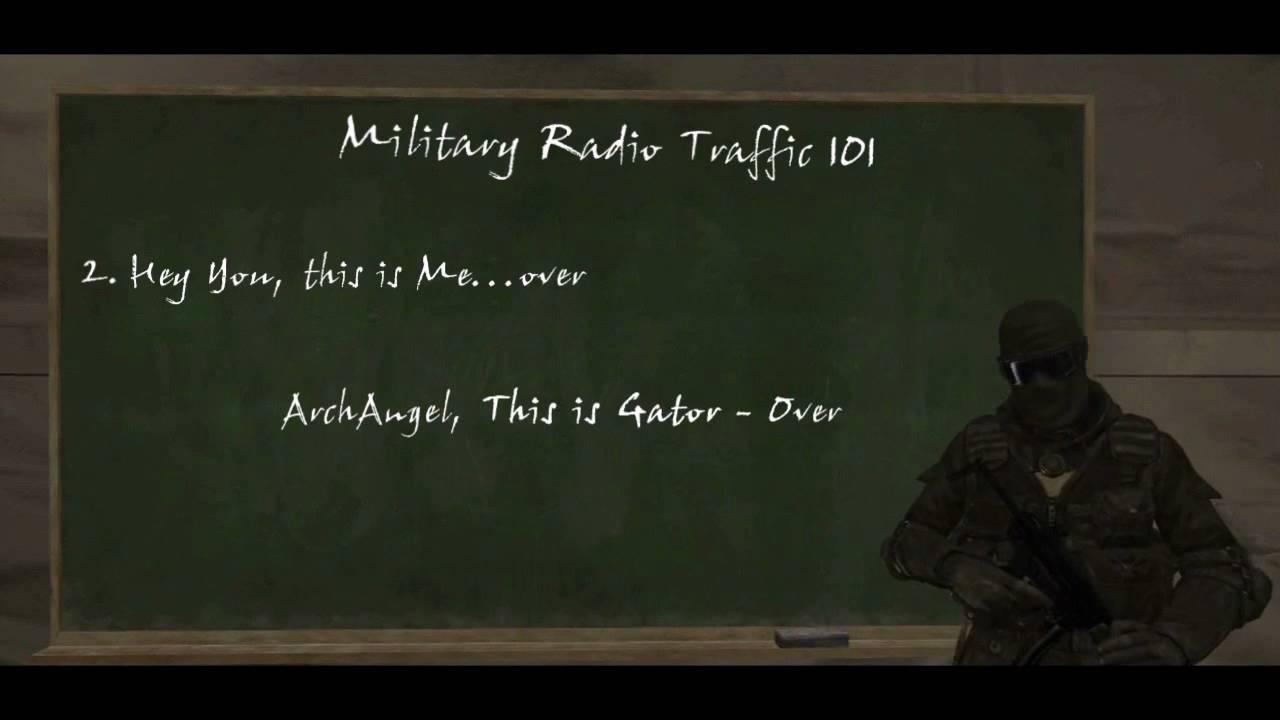 Military Radio Traffic 101- A Machinima How To
