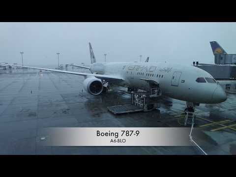 Flight EY002 Etihad Airways Frankfurt - Abu Dhabi Boeing 787-9 Economy Class
