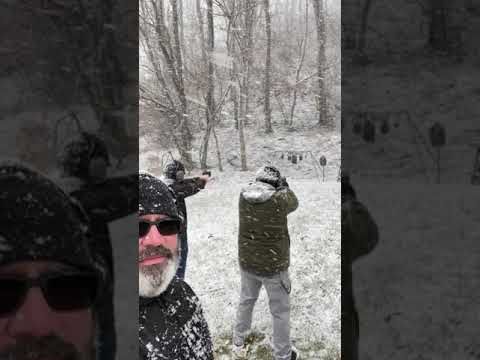 Shooting in the Snow #shorts