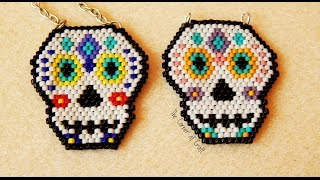 Beaded Sugar Skull // Brick Stitch and Bead Weaving// How To ¦ The Corner of Craft