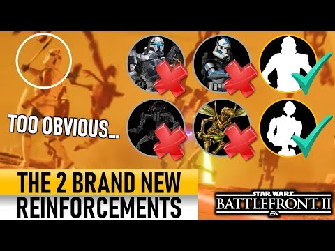 THE NEW REINFORCEMENTS ARE SO OBVIOUS! Star Wars Battlefront 2 thumbnail