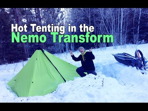 Hot Tent Camping Trip with the Nemo Transform Tarp and Mr. Heater Little Buddy Propane Heater