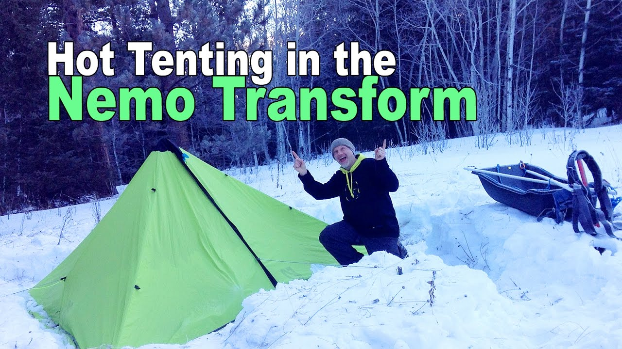 Hot Tent C&ing Trip with the Nemo Transform Tarp and Mr. Heater Little Buddy Propane Heater - YouTube & Hot Tent Camping Trip with the Nemo Transform Tarp and Mr. Heater ...