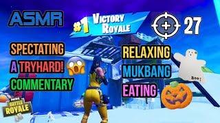 ???? ASMR Gaming | Fortnite Tryhard Pro 27 Kills Mukbang Eating Halloween Cookies 먹방 ????????Whispering????????