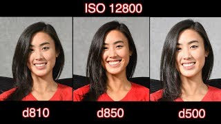 D850 vs D810 vs D500 - High ISO test