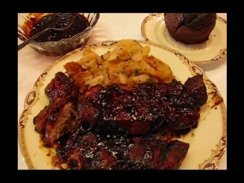 Betty's Barbecued Bone-In Coutry-Style Ribs With Betty's Own Barbecue Sauce