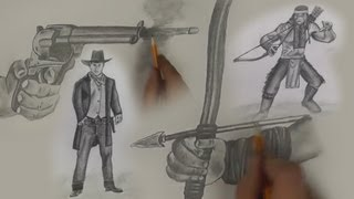 DRAW! Native American vs. Cowboy: Speed Art Duel