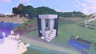Современный дом 5x5+Тайная комната Как построить дом в Майнкрафт