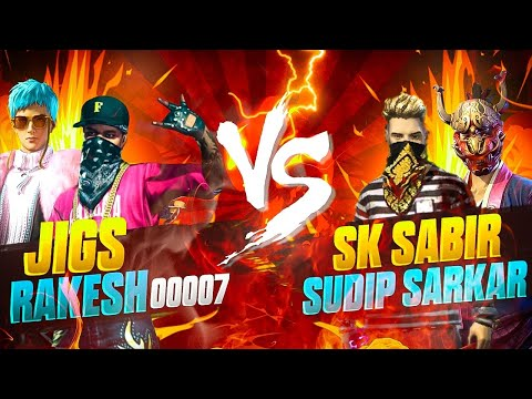 Jigs And Rakesh Vs Sk Sabir And Sudip Sarkar👑 ❤️||Legendary Duo Vs Iconic Duo||Ft.Crx Rocky🇮🇳❤️