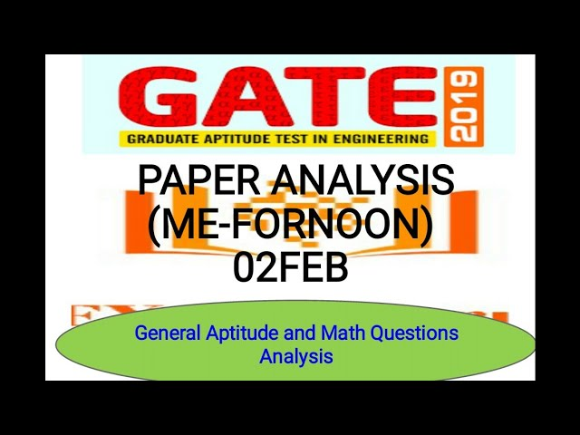 Gate 2019 Paper Analysis | ME-1 | General Aptitude | Mathmatics | Question Asked | Exam Guru