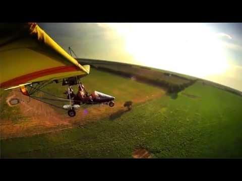 Sun Over Severy - 6 Cam POV Ultralight Flight