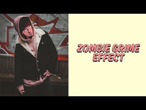 Zombie Grime Art Photoshop Action Tutorial thumbnail