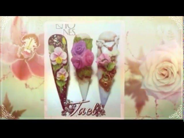 Tutorial: Diseño de Uñas en 3d rosas sencillas