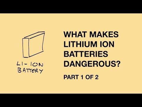 Lithium-ion battery risks - part 1