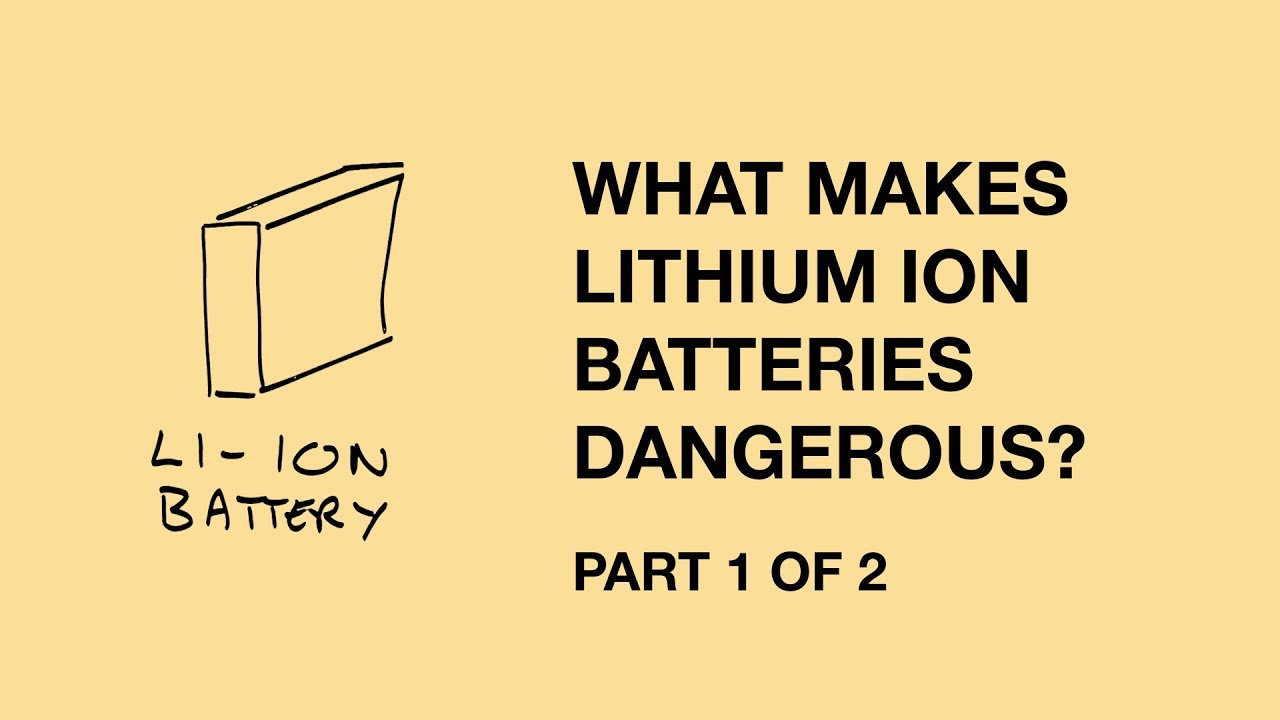 Lithium Ion Battery >> Lithium-ion battery risks - part 1 | Andrew Maynard | Risk Bites - YouTube