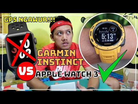 REVIEW GARMIN INSTINCT dan BUSUKNYA GPS APPLE WATCH 3