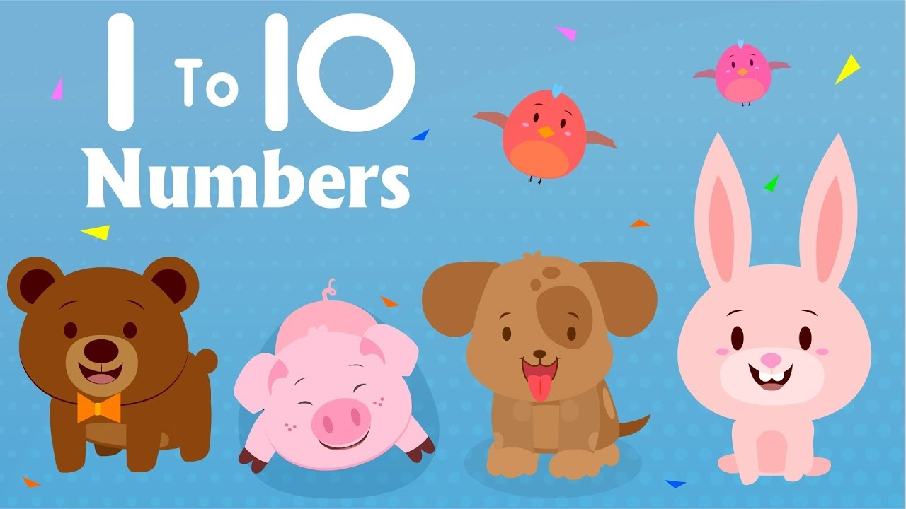Learning Numbers For Toddlers 1 to 10 | Kindergarten | Preschool ...