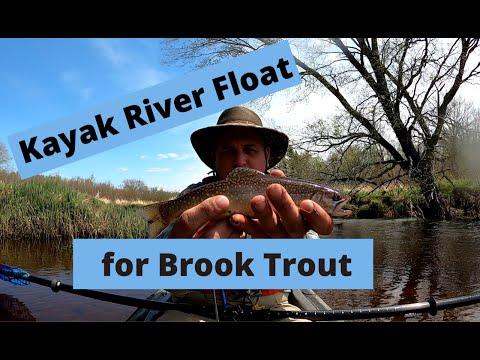 Kayak River Fishing For Brook Trout In Nova Scotia