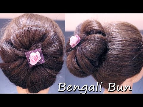 Classy Bengali Bun | Big Donut Bun for Bengali women | Classic Hairstyle | Typical Indian Hairstyle