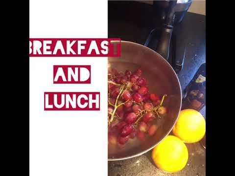 Breakfast and lunch - detox and detoxification