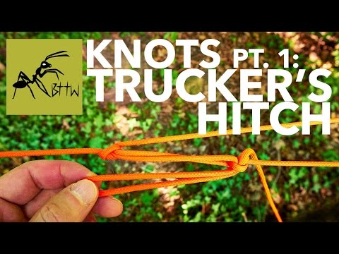 Awesome Knot: TRUCKER'S HITCH (usage: ridgeline and hoist!)