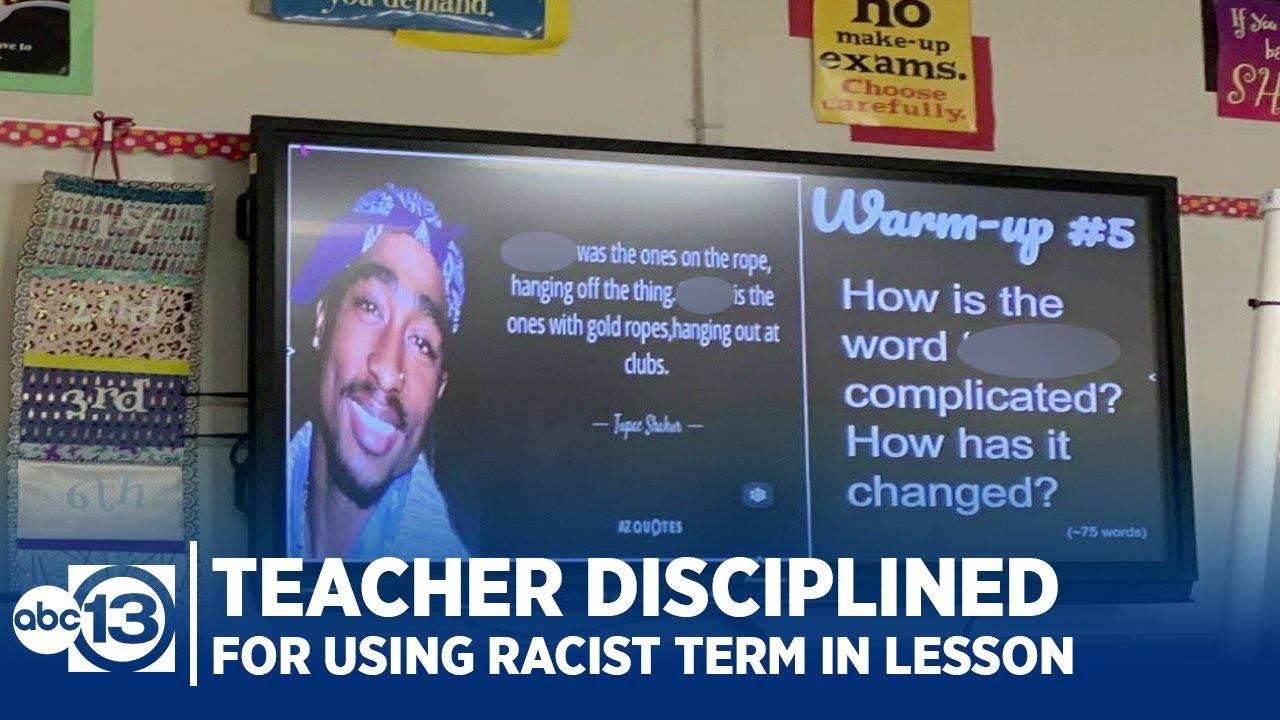 Teacher disciplined for using racist term in lesson plan