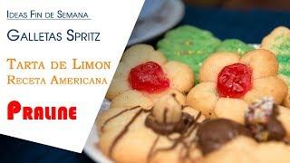 Ideas Fin de Semana Galletas Spritz, Tarta de Limon y Praline de Almendras