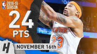 Trey Burke Full Highlights Knicks vs Pelicans 2018.11.16 - 24 Points off the Bench