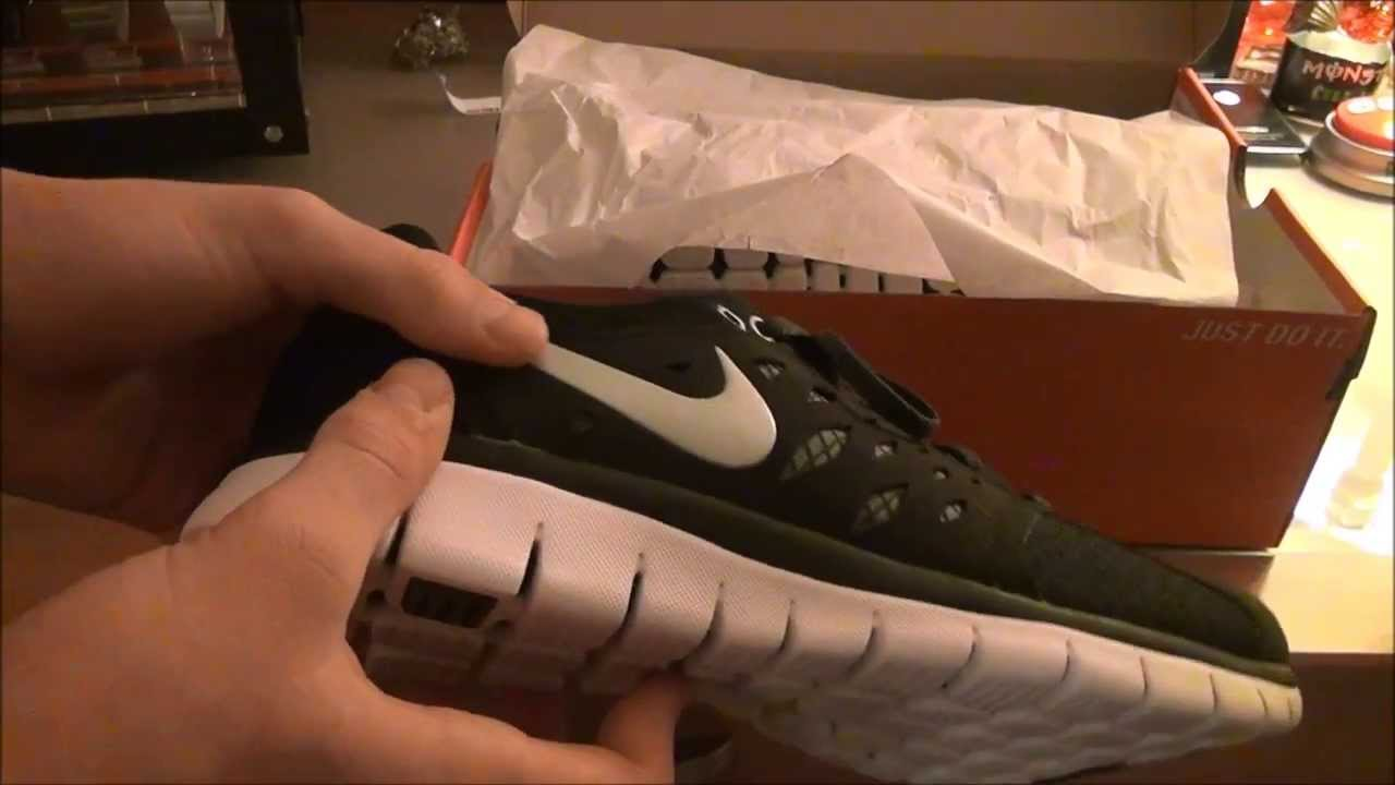 3a31462ad2 Nike Flex 2013 Run Black/ White/ Metallic Silver Unboxing + On Foot -  YouTube