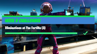 Eliminations at The Fortilla (3) - Fortnite Week 9 Challenges