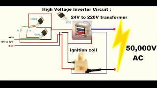 Het maken van een inverter - high voltage van 12V DC naar AC 50000V