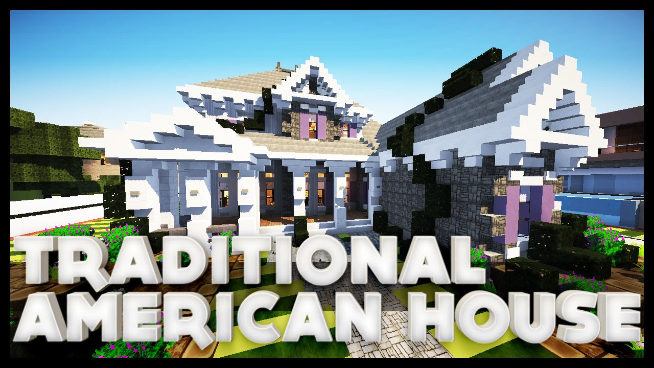 Minecraft traditional american house youtube for Minecraft big modern house tour
