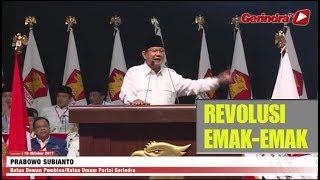 Download Video Pidato Prabowo Sindir Pimpinan Partai Dulu Revolusi Bambu Runcing sekarang Revolusi Emak-emak MP3 3GP MP4