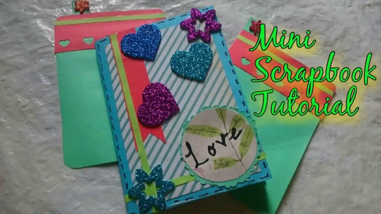 How to scrapbook easy - Diy Mini Scrapbook Making Easy Idea How To Craftlas