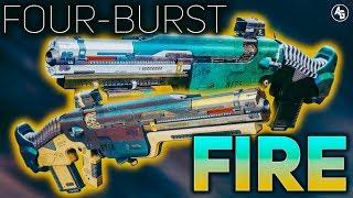 Four-Burst Fire Pulse Rifles (Go Figure & Right Side of Wrong) | Destiny 2 Forsaken