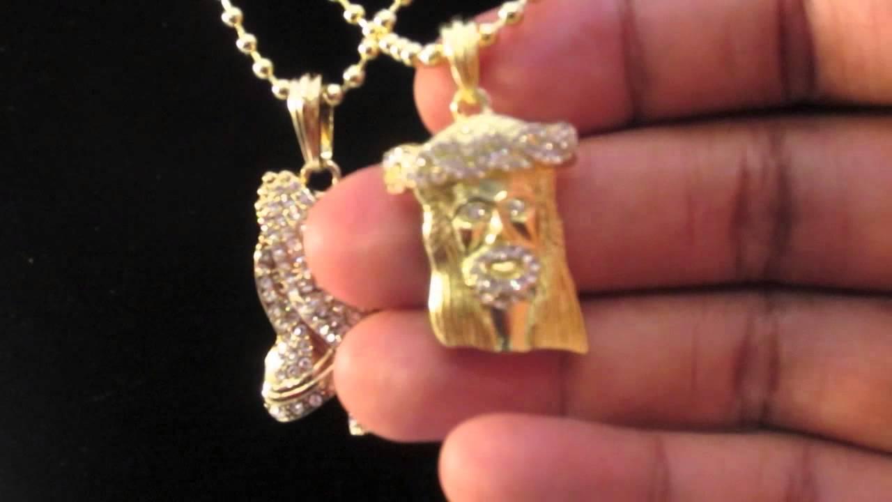 Gold micro mini jesus praying hand pendants w ball chain nas tyga gold micro mini jesus praying hand pendants w ball chain nas tyga hip hop jewelry youtube aloadofball Choice Image