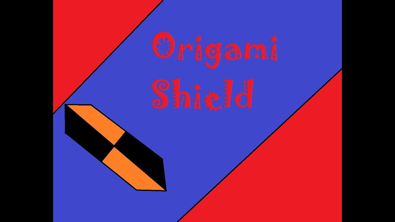 Origami Shield Sword Diagrams And Of The Woona Youtube