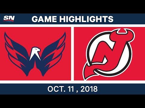 NHL Highlights | Capitals vs. Devils - Oct. 11, 2018