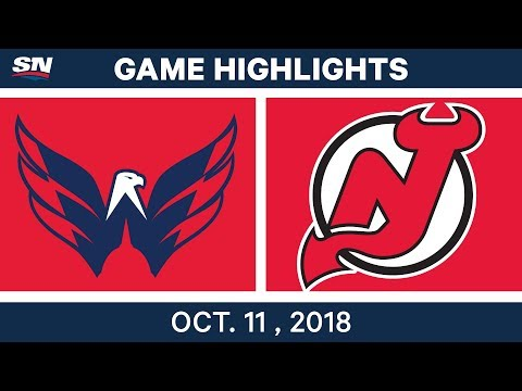 NHL Highlights   Capitals vs. Devils - Oct. 11, 2018