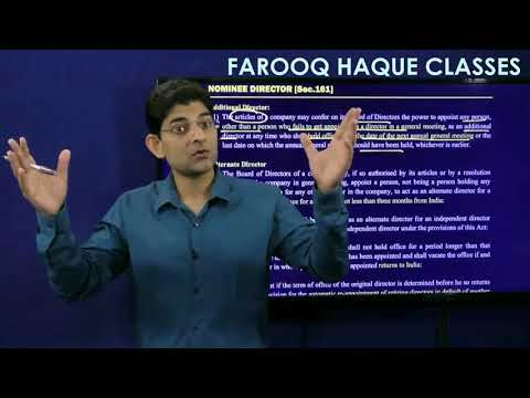 CA Final - Companies Act: Directors - Part 5 (Sec 161 to 163) - CA Farooq Haque | FHC Online