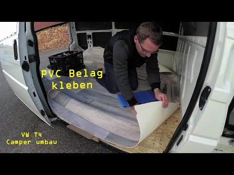 VW T4 umbau zum Camper Van - #12 - PVC Bodenbelag einkleben | Ben am Leben